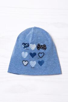 Cappello a cuffia con paillettes, Blu, hi-res
