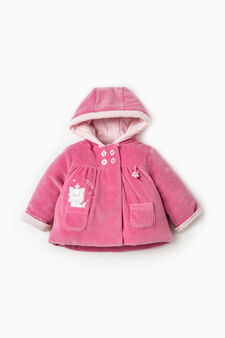 Jacket with Aristocats embroidery, Fuchsia, hi-res