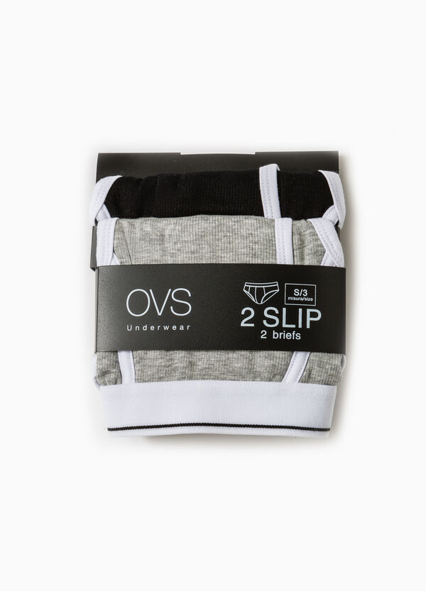 Two-pack solid colour stretch modal briefs | OVS