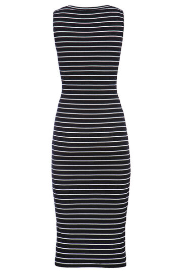 Smart Basic long striped dress, Black/White, hi-res