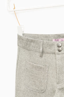 Pantaloni larghi viscosa e lurex, Grigio, hi-res
