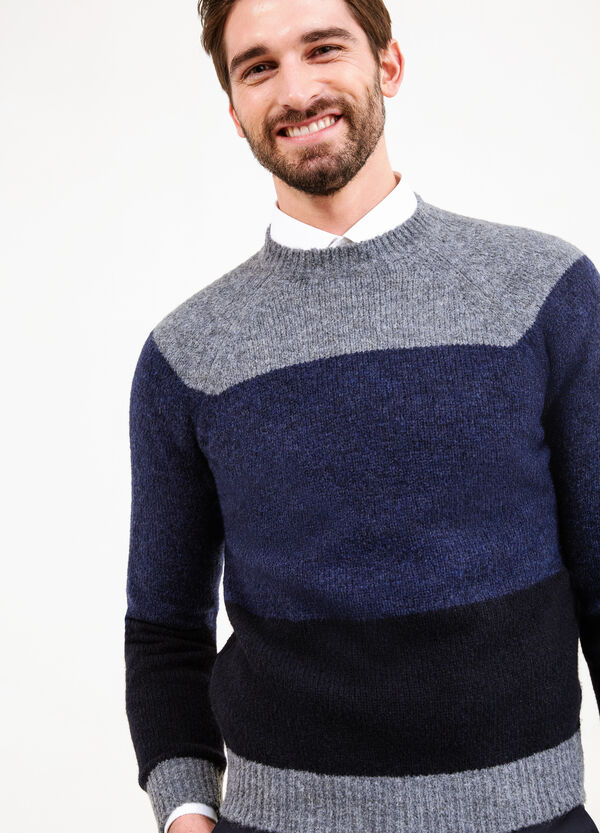Striped wool blend knitted pullover   OVS