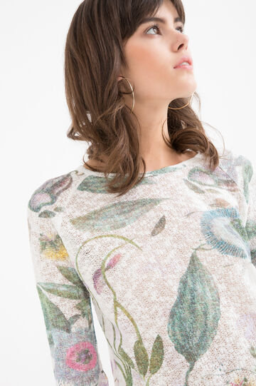 Crew neck patterned T-shirt