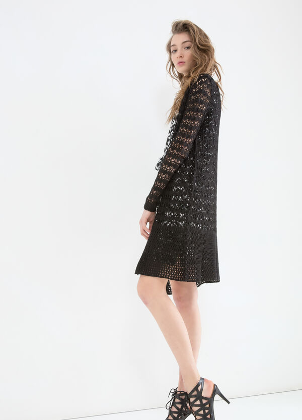 Long openwork cardigan | OVS