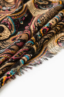 Paisley patterned scarf, Multicolour, hi-res