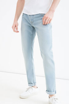 Faded effect jeans with skinny fit, Denim, hi-res