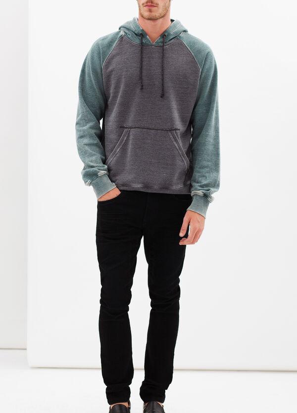 Worn-effect hoodie | OVS
