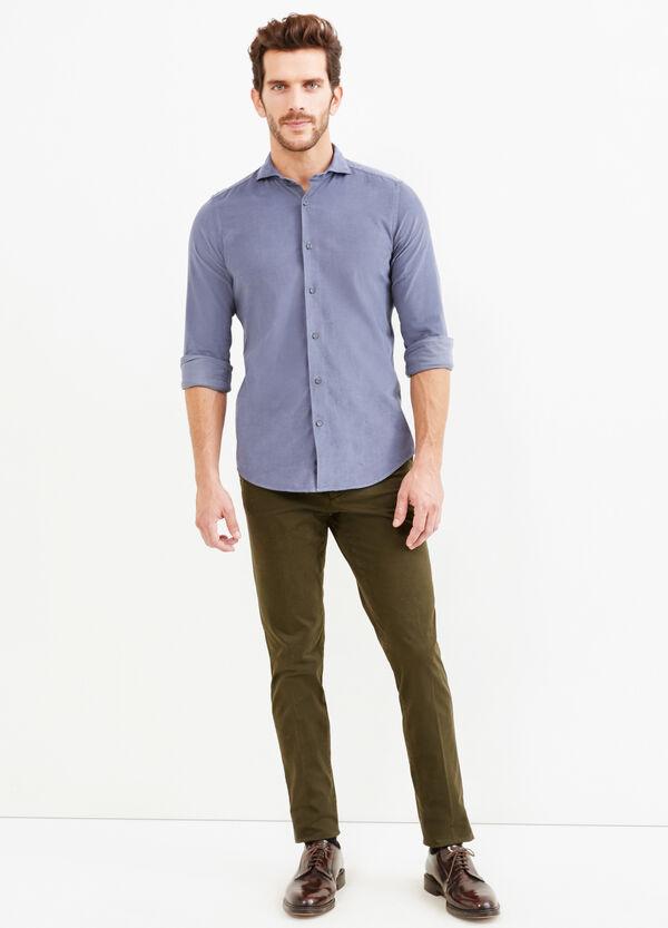 Slim-fit velvet Rumford shirt | OVS