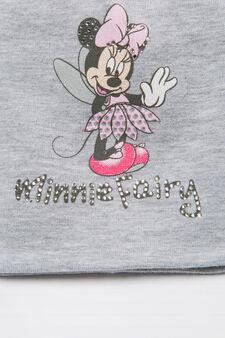 Minnie Mouse cotton beanie cap, Light Grey, hi-res