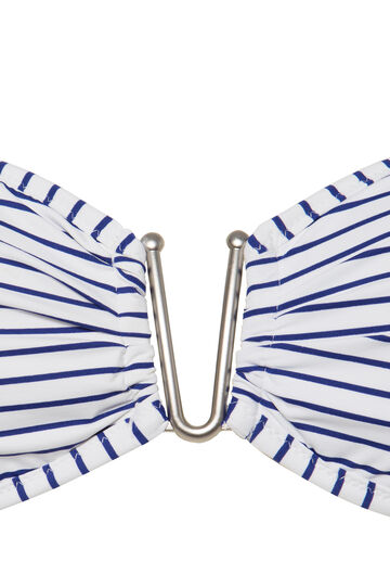 Fascia stretch fantasia righe, Bianco/Blu, hi-res