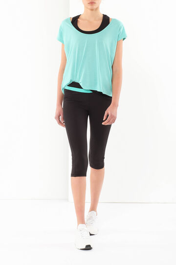 Round neck T-shirt, Turquoise Blue, hi-res