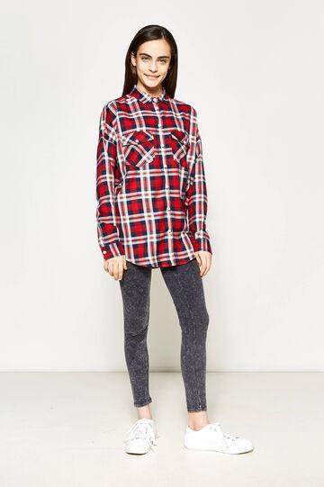 Camicia tartan in viscosa Teen