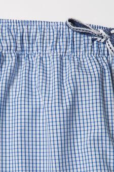 Striped pattern pyjama trousers., Blue, hi-res
