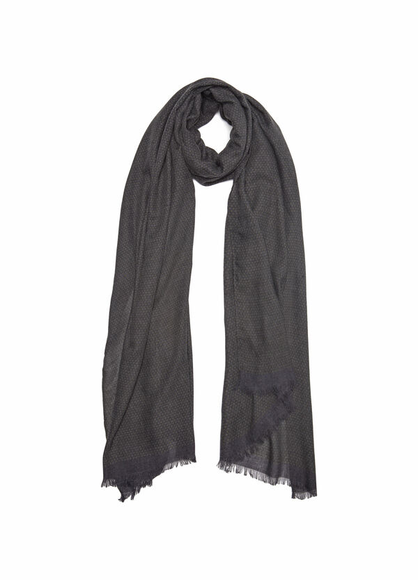Polka dot viscose blend scarf | OVS