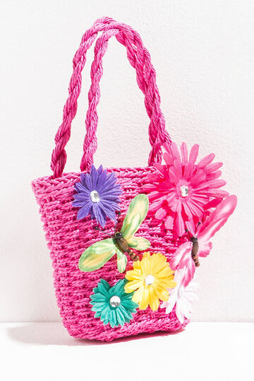 Shopping bag with flowers and butterflies