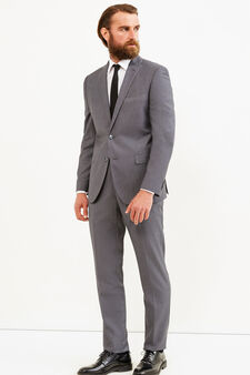 Elegant, regular-fit, solid colour suit, Grey, hi-res