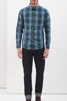 Camicia con sovrastampa G&H, Blu/Azzurro, hi-res