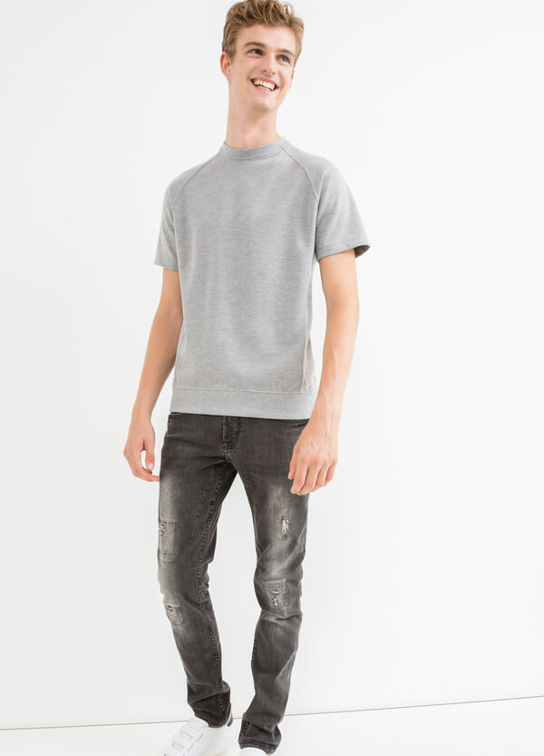 Cotton blend, short-sleeved sweatshirt | OVS
