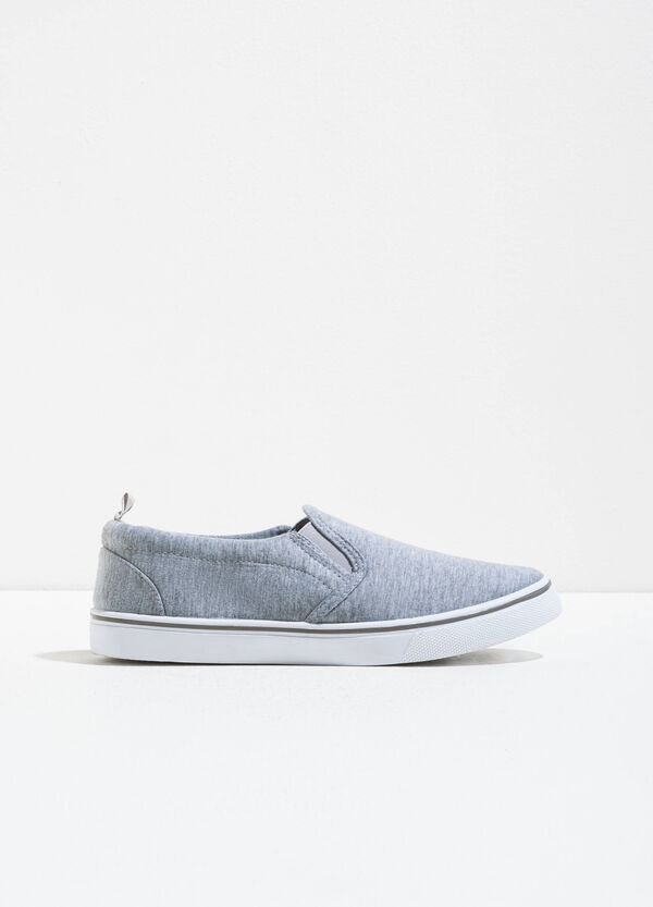 Mélange canvas slip-on shoes | OVS