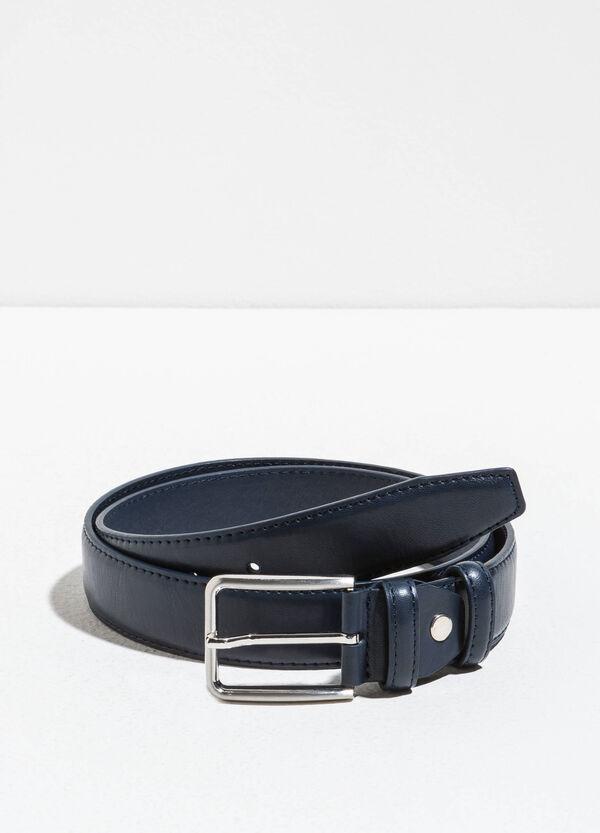 Cinturón con efecto martillado y dos trabillas | OVS