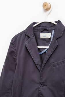 100% cotton jacket with two buttons, Blue, hi-res