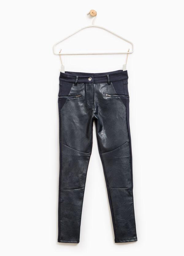 Pantaloni con inserto similpelle | OVS