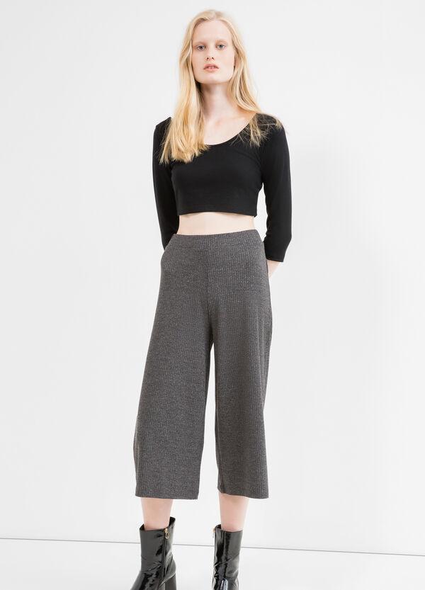 Pantaloni gaucho costina cotone stretch | OVS