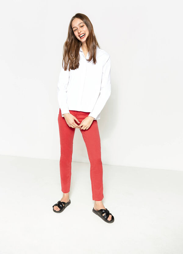 Trousers in modal and cotton twill   OVS