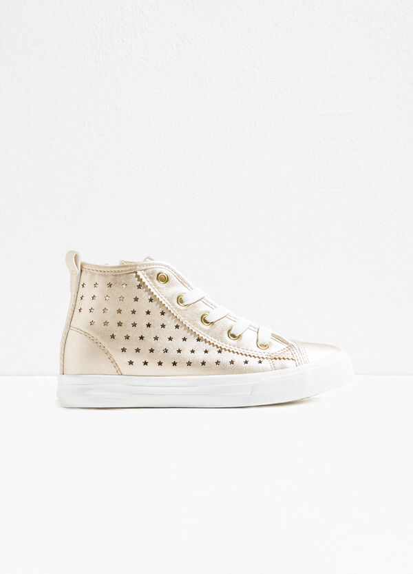 Sneakers with openwork stars on upper | OVS