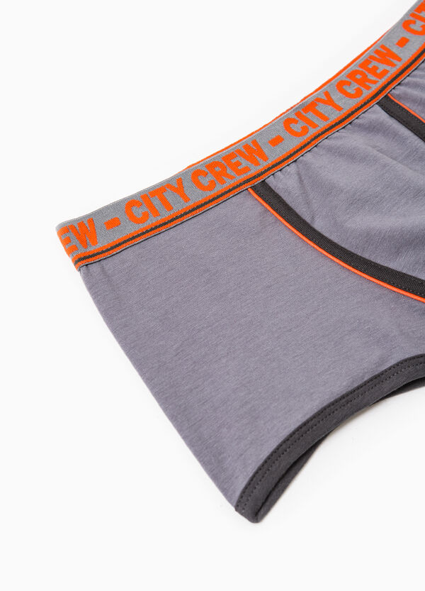 Stretch cotton boxer shorts with embroidery | OVS
