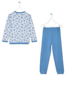 Printed pyjamas in 100% cotton, Light Blue, hi-res