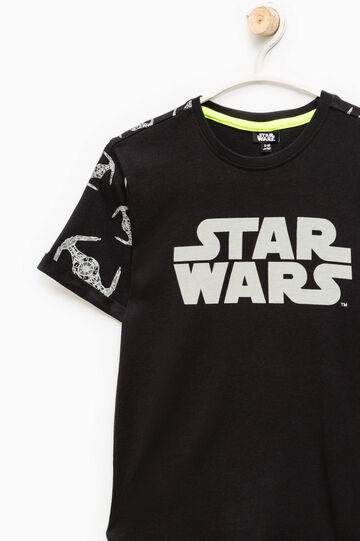 T-shirt with all-over Star Wars print, Black, hi-res