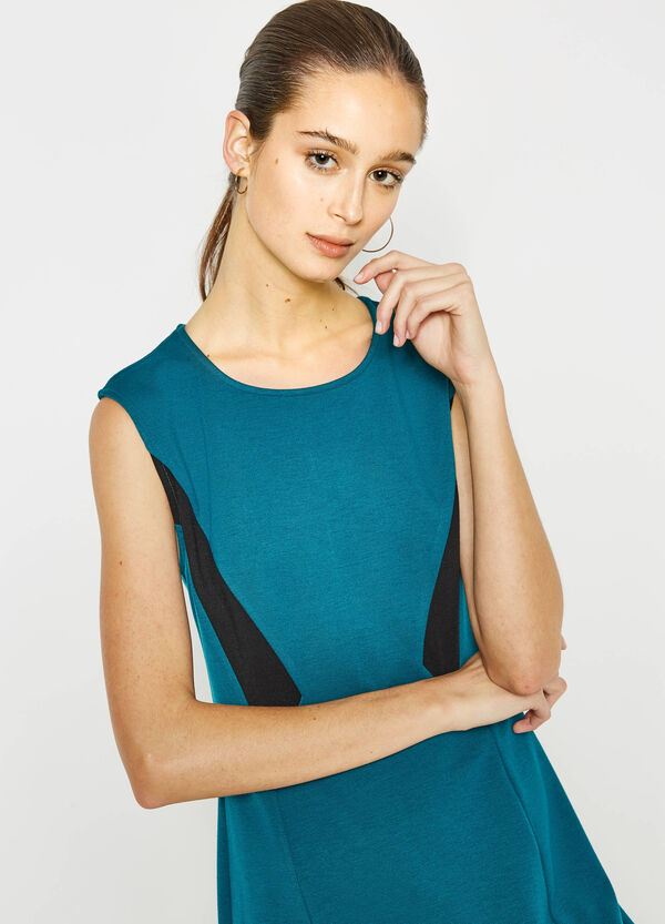 Sleeveless stretch dress with zip fastening on back | OVS