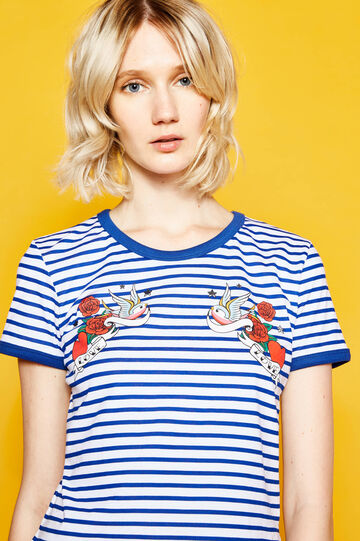 T-shirt with striped print