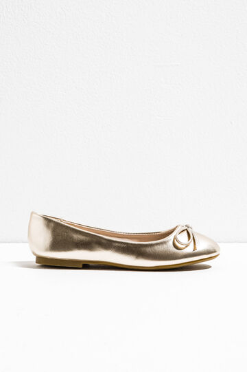 Patent ballerina pumps with bow, Golden Yellow, hi-res