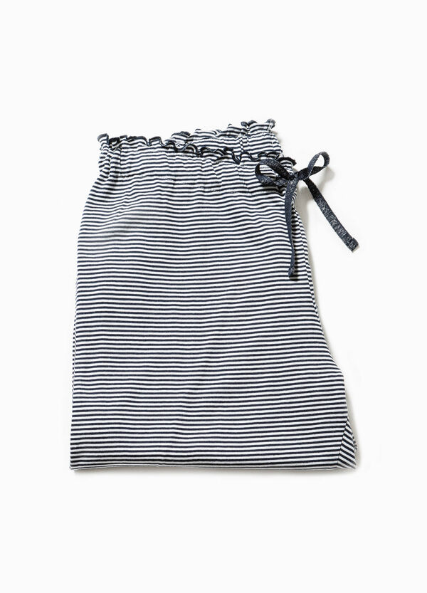 Striped pyjama trousers with frills | OVS