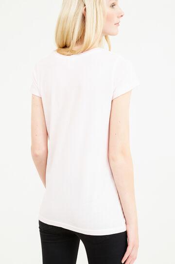 Maxi Cinderella print cotton T-shirt, Pink, hi-res