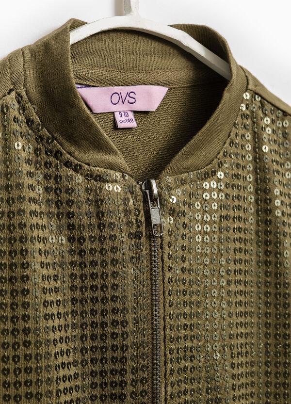 Felpa puro cotone con zip | OVS
