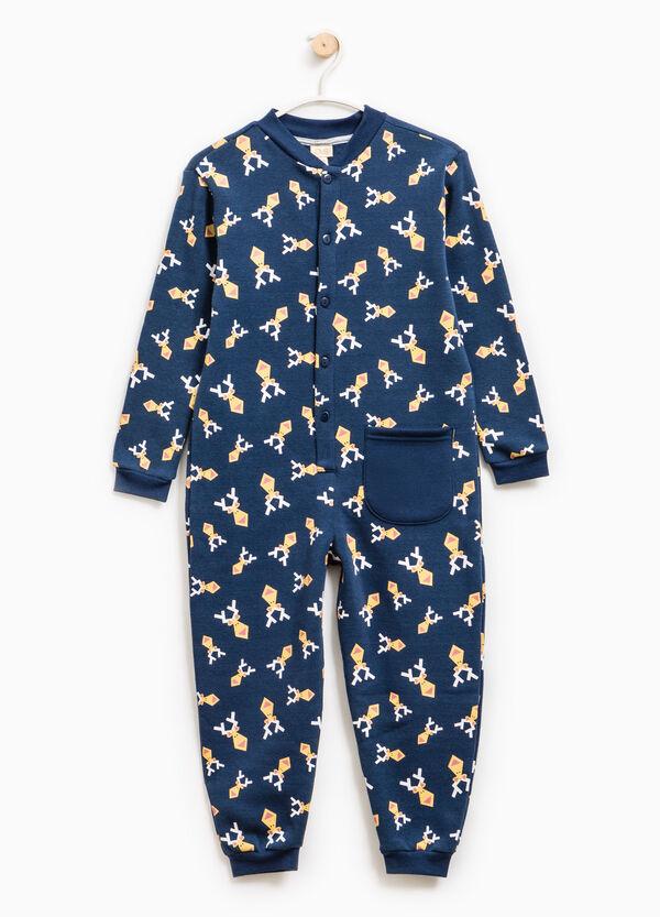 Tuta pigiama in cotone stampa renne | OVS