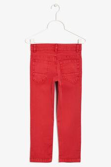 Pantaloni cinque tasche, Rosso, hi-res