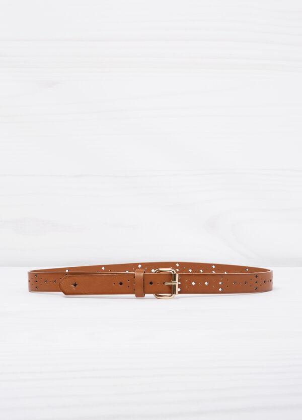 Openwork leather look belt | OVS