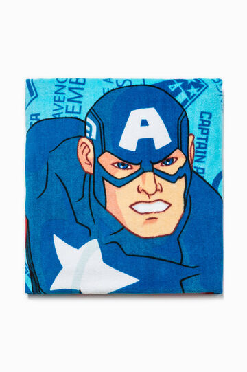 Beach towel with Captain America print