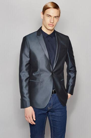 Shiny slim-fit elegant jacket