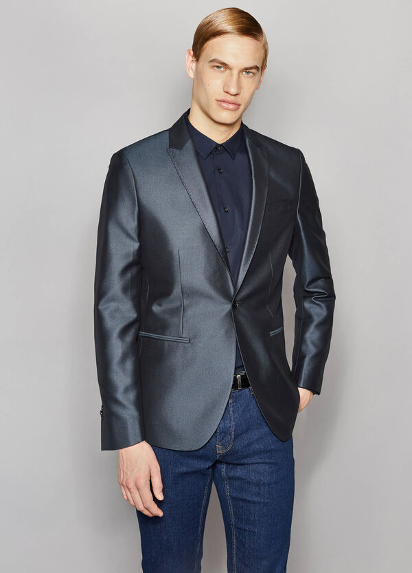 Shiny slim-fit elegant jacket | OVS