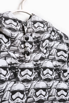 Sweatshirt with Star Wars pattern and pocket, White/Black, hi-res