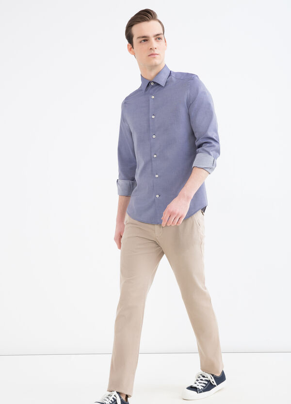 Camicia slim fit in cotone fantasia | OVS