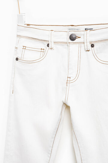 Regular-fit stretch jeans, Cream White, hi-res