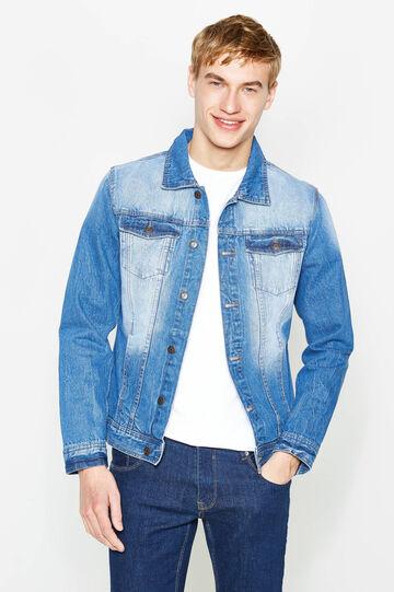 Giubbino di jeans effetto delavato, Denim, hi-res