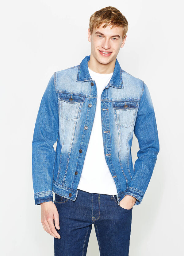 Worn-effect denim jacket | OVS