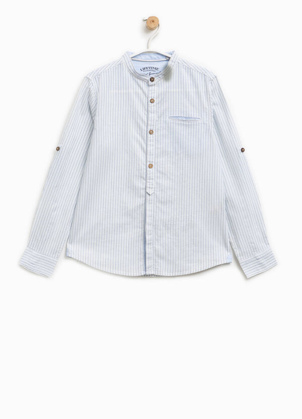 100% cotton striped pattern shirt | OVS